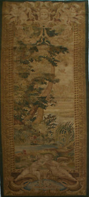 "30""x91.8"" Hand woven Reproduction FRENCH AUBUSSON TAPESTRY PORTIERE-Woodland B"