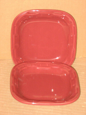 Longaberger RARE Tapas Plates Set of Two Paprika Red mint condition in box