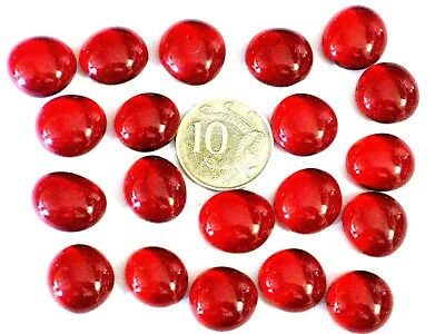20 SMALL Red Glass Nuggets Mosaic Flower VASES Aquarium The Glass Store & More