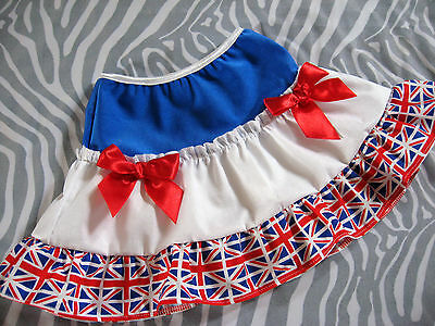 New Baby Girls Blue white red Union Jack Flags Retro Rock Skirt England GB Party