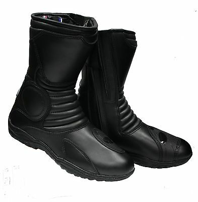 New Bga Touring Motorcycle All Leather Boot Size 43