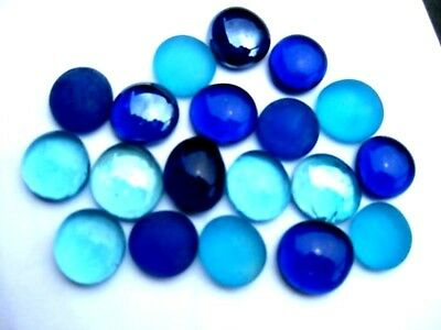 25 Mixed BLUE Glass Gems Mosaic Nuggets Art & Craft. The glass store & more