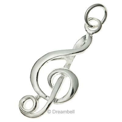 1x Sterling Silver Melody Charm Pendant 11 X 25mm scp141w