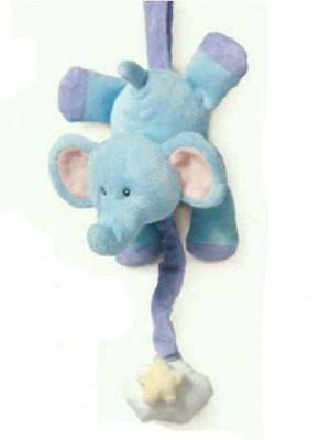 Musical pulldown for baby /nursery  Soft toy elephant  RUSS BERRIE  brand new