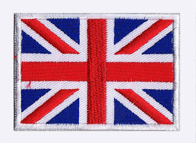 Écusson patch patche drapeau Union Jack ROYAUME UNI 70 x 45 mm brodé à coudre