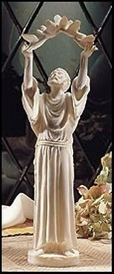 """Saint St Francis Of Asissi10"""" Catholic Statue Figure Marble Resin Religious Gift"""