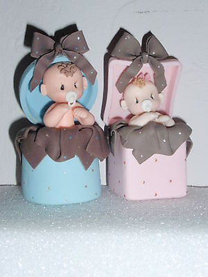 Baby Gift In Box Topper Diaper Cake Baby Shower Cupcakes Gift Favor Centerpiece