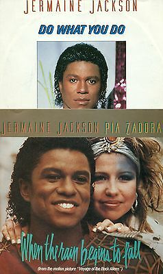 JERMAINE JACKSON 2x SINGLES WHEN THE RAIN BEGINS TO FALL / DO WHAT YOU DO S9794