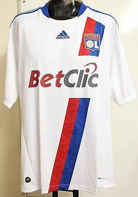Olympic Lyon 2010/11 Short Sleeved Home Shirt By Adidas Size Xl Brand New