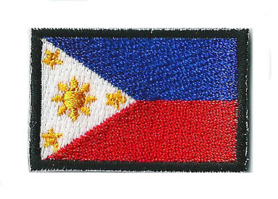Ecusson patche Philippines petit patch 45x30 mm brodé thermocollant