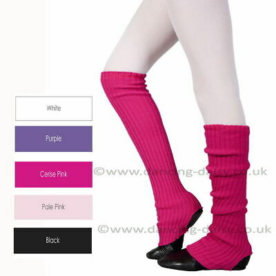 ANKLEWARMERS BALLET  DANCE RIBBED 40cm LEG WARMERS LOTS COLOURS