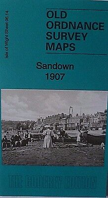 Old Ordnance Survey Map Sandown Isle of Wight 1907 Sheet 96.14 New