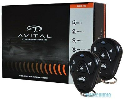 Avital 4103 Remote Start with Keyless Entry