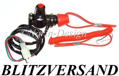 Kill Switch Seil + Schalter - Notaus Notausschalter Moto Cross