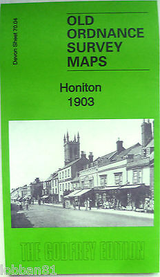Old Ordnance Survey Detailed  Maps Honiton Devon 1903 Godfrey Edition New