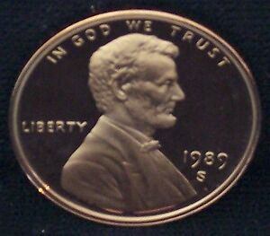1989-S Proof Lincoln Memorial Penny - Deep Cameo!