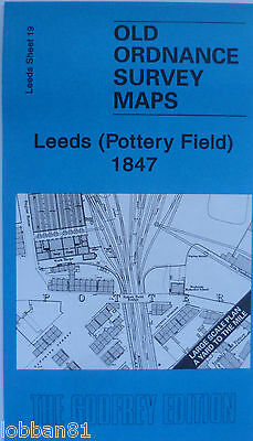 Old Ordnance Survey Maps Leeds Pottery Field 1847 Large Scale Yard to Mile New
