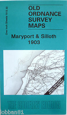 Old Ordnance Survey Map Silloth Maryport Coastline including Risehow 1903 new
