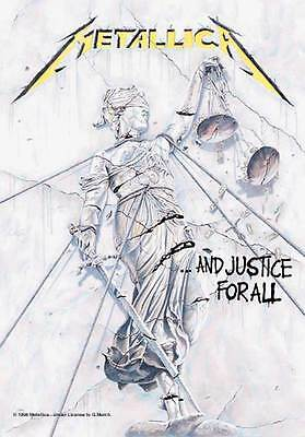 """METALLICA """"JUSTICE FOR ALL"""" Fabric Poster Oversize 30""""X40"""" Poster NEW"""