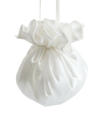 Ivory Or White Satin Bridal Bridesmaid Wedding Flower Girl Dolly Bag