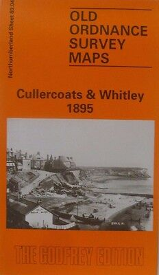 Old Ordnance Survey Map Cullercoats & Whitley nr Tynemouth 1895 S89.04 New Map