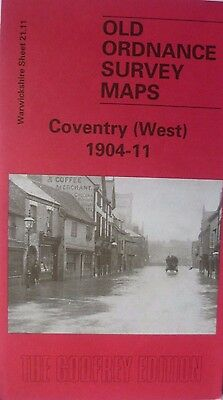 Old Ordnance Survey Maps Coventry West Warwickshire  1904-1911  S21.11 New Map