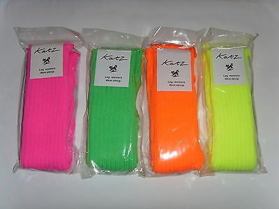 40cm Florescent bright pink yellow green orange stirrup legwarmers by katz