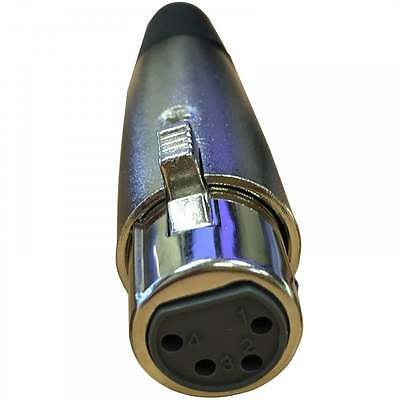 UKDJ 4 Pin XLR Female Socket with Solder Terminals & Cable Protector