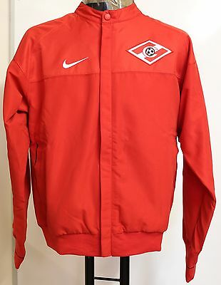 Spartak Moscow Player Issue Red Line Up Jacket By Nike Size Xl Brand New