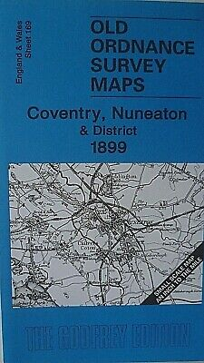Old Ordnance Survey Maps Coventry Nuneaton & District & Map  Burbage 1899 S169