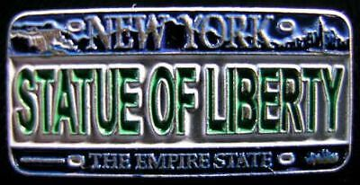 Lapel Pin - Statue Of Liberty (Green) - Ny License Plate