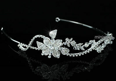 Bridal Wedding Prom Side Headpiece Tiara use Swarovski Crystal T1465