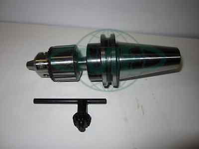 "Cme/harvest 3/8"" Key Type Drill Chuck W. Cat40 Arbor Cnc Tooling--New"
