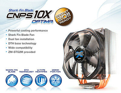Zalman CNPS10X Optima Shark CPU Cooler Compatible with AMD and Intel Processors