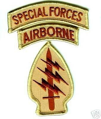 JSOC US ARMY SP OPS SPECIAL FORCES WITH AIRBORNE TAB DESERT DD burdock SET