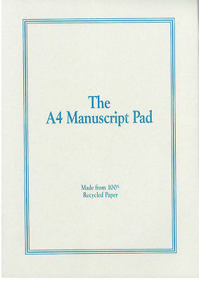 A4 Manuscript Pad - Double-sided, punched *NEW* music, notation, paper, stave