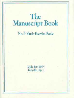 The Manuscript Book No. 9 - Music Exercise *NEW* music, paper, stave, writing