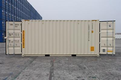 "Shipping Container 20'HC (9'6"") Double Doors, Newbuild (1 trip), Lock Box"