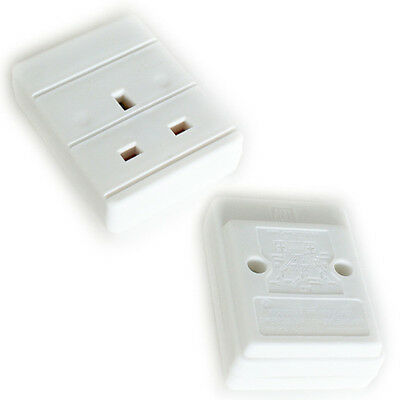 13A 1 Way Gang Trailing Uk Plug Socket -  To Make Mains Extension Cable Lead