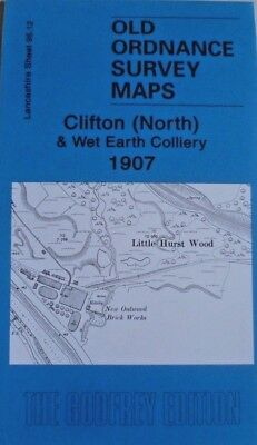 Old Ordnance Survey Map Clifton (North) & Wet Earth Colliery Lancs 1907 New