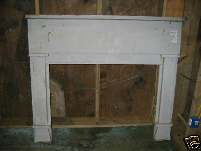 """Antique Heart Pine Fireplace Mantel overall dimensions 58 3/4"""" x 51 3/4"""""""