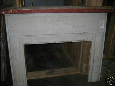 "Antique Heart Pine Fireplace Mantel overall dimensions 66 1/4"" x 55 1/2"""