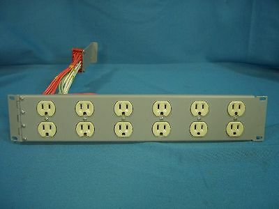 CAE Inc. Leprecon LD-1200 6 Channel Dimmer Pack Lighting Output Connector Panel
