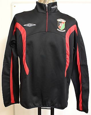 Glentoran Black 1/2 Zip Fleece By Umbro Size Medium Brand New