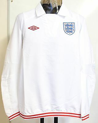 England White Football Icon Drill Top By Umbro Adults Size Small Brand New