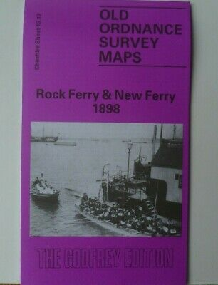 Old Ordnance Survey Map Rock Ferry & New Ferry Cheshire 1898 Godfrey Edition New