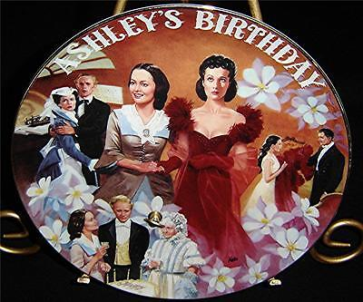 Gone With The Wind Musical Treasures ASHLEY'S BIRTHDAY Porcelain Movie Plate