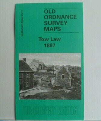 Old Ordnance Survey Detailed Maps Tow Law near Durham 1897 Sheet 25.11