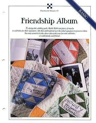 FRIENDSHIP ALBUM QUILT & Block, Best-Loved Quilt pattern & templates