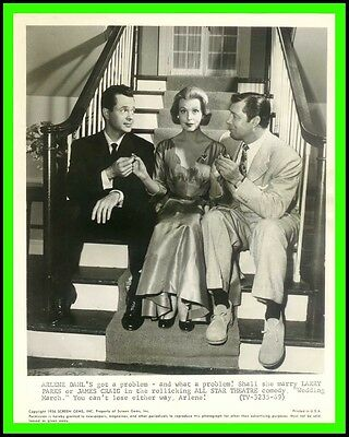"ARLENE DAHL, LARRY PARKS & JAMES CRAIG in ""Wedding March"" Original TV Phot. 1954"